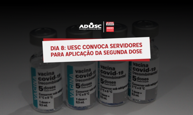 UESC convoca servidores para aplicação da segunda dose