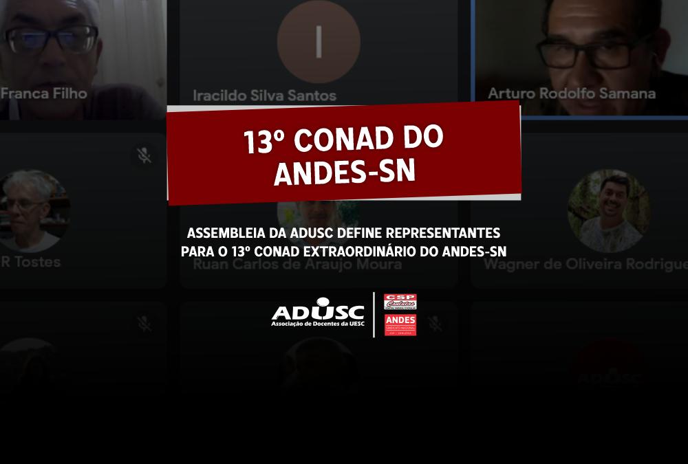Assembleia escolhe representantes para o 13º Conad do ANDES-SN
