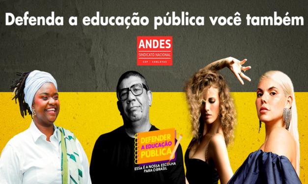 Após live, ANDES-SN lança site e redes da campanha em defesa da Educação Pública
